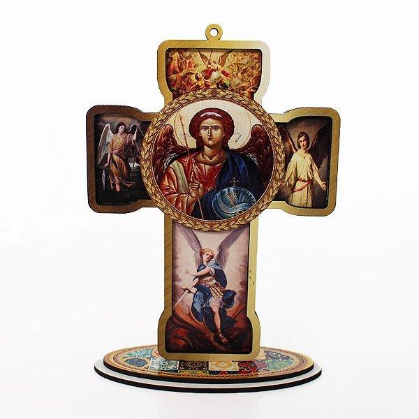 Cruz Sacra em MDF - Arcanjos - Pacote com 3 peças - Cód.: 4832