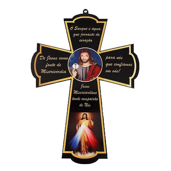 Cruz Santos em MDF - Jesus Misericordioso - A Peça - Cód.: 4833