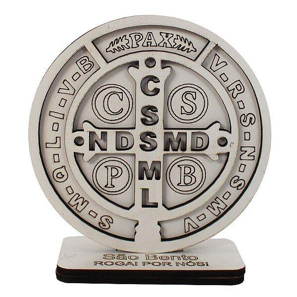 Enfeite de Mesa 3D em MDF - Medalha de São Bento - Pacote com x peças - Cód.: 1580