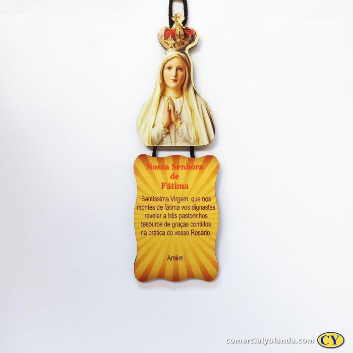 Plaquinha com oração de Nossa Senhora de Fátima - Pacote com 3 peças - Cód.: 917