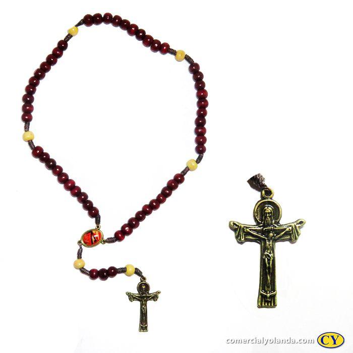 Terço e novena Mãos ensanguentadas de Jesus - Pacote com 6 peças - Cód.: 3310