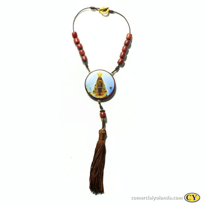 Medalhão para carro, em madeira resinada com fecho - Nossa Senhora Aparecida - O pacote com 3 peças - Cód.: 0721