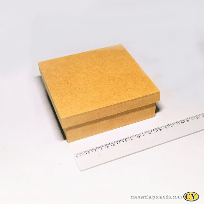 Caixa simples 15 x 15 x 5,5 cm em MDF com tampa - Pacote com 3 peças - Cód.:4720