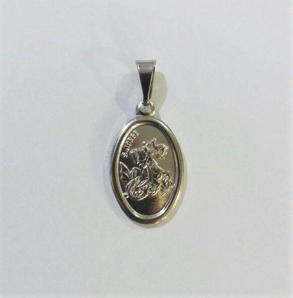 Medalha de São Jorge em metal - Pacote com 3 peças - Cód.: 1559