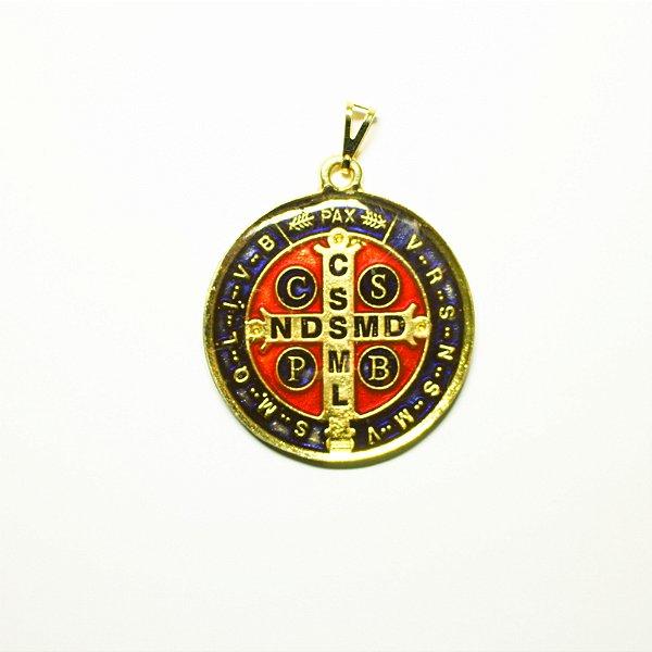 Medalha de São Bento em metal resinada - A Dúzia - Cód.: 4377(M) / 1309(G)