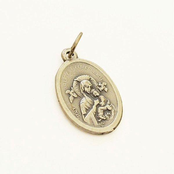Medalha dupla face de Nossa Senhora do Perpétuo Socorro - A dúzia - Cód.: 3630