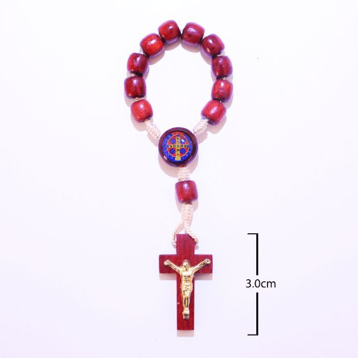 Dezena em madeira Medalha de São Bento - A Dúzia - Cód.: 0981
