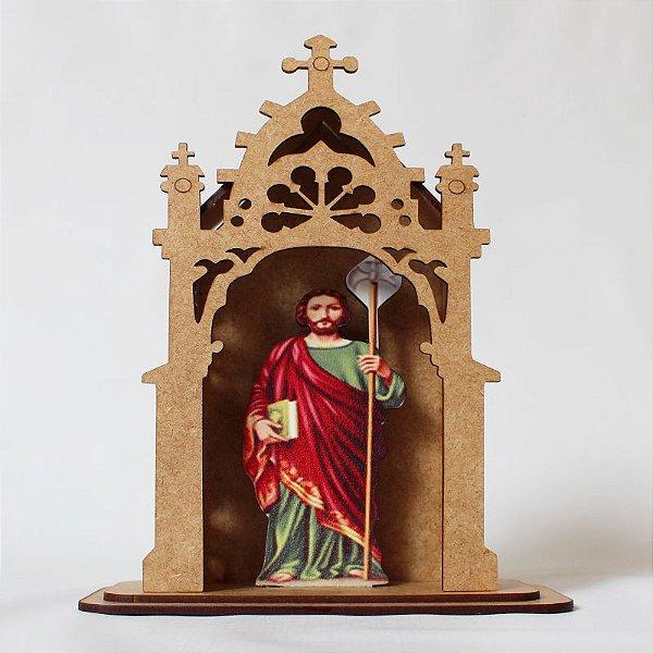 Capelinha em MDF - São Judas Tadeu  - Pacote com 3 peças - Cód.: 3172
