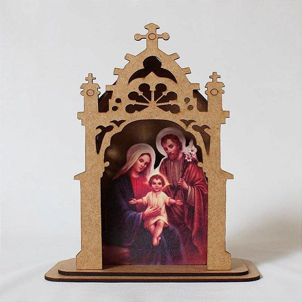 Capelinha em MDF - Sagrada Família - Pacote com 3 peças - Cód.: 3172