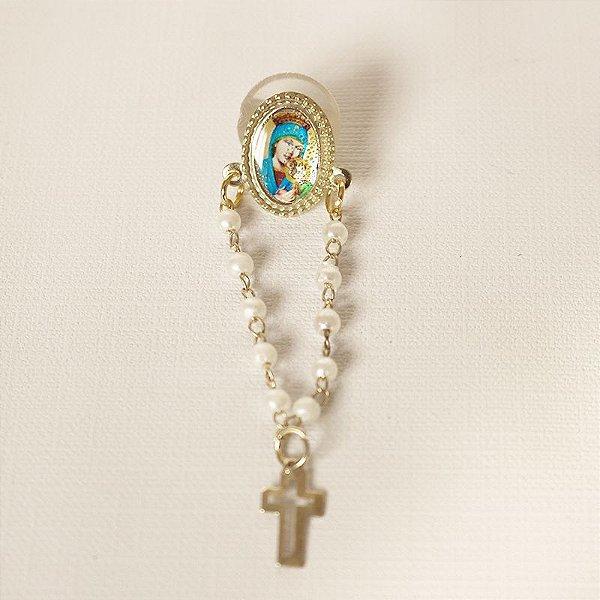 Broche Dezena - Nossa Senhora do Perpétuo Socorro - A Dúzia - Cód.: 0590