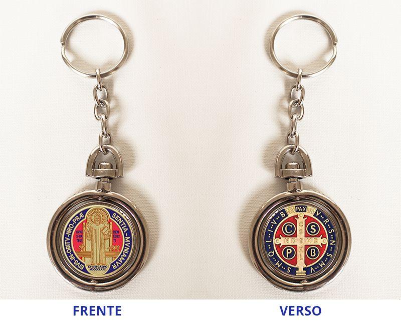 Chaveiro Giratório - Medalha de São Bento - O pacote com 3 unidades - Cód.: 920