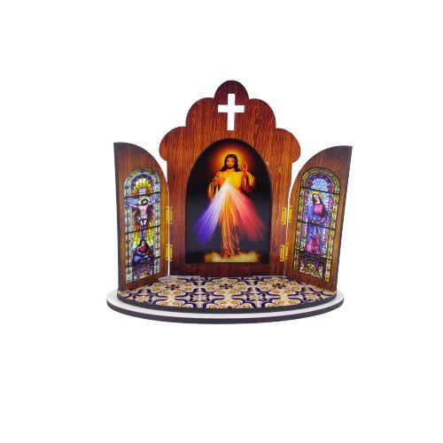 Capela portuguesa de Jesus Misericordioso - O pacote om 3 peças - Cód.: 6355
