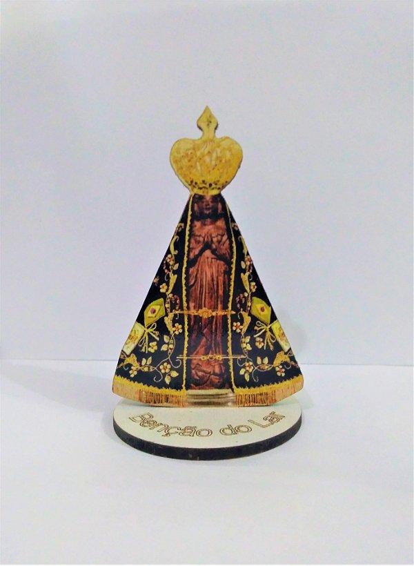 Enfeite de mesa em MDF de Nossa Senhora Aparecida - O pacote com 6 peças - Cód.: 1647