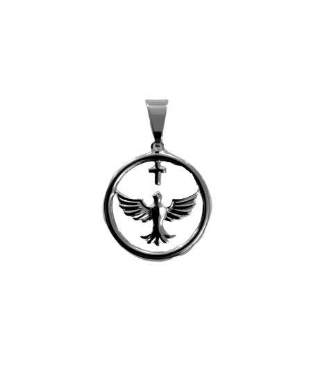 Pingente de Aço Inox do Divino Espírito Santo - O pacote com 3 peças - Cód.: 8430