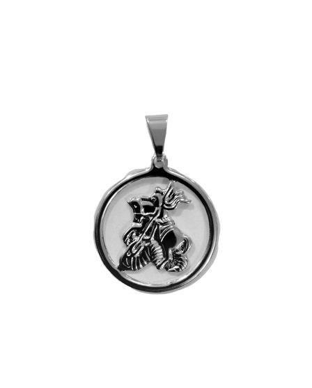Medalha Inox de São Jorge - O pacote com 3 peças - Cód.: 851