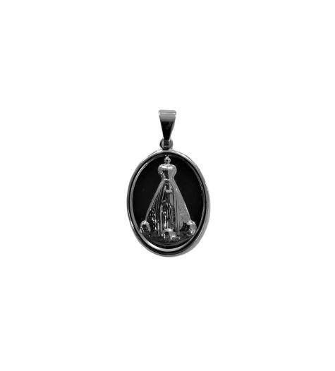 Medalha Inox de Nossa Senhora Aparecida - O pacote com 6 peças - Cód.: 1042