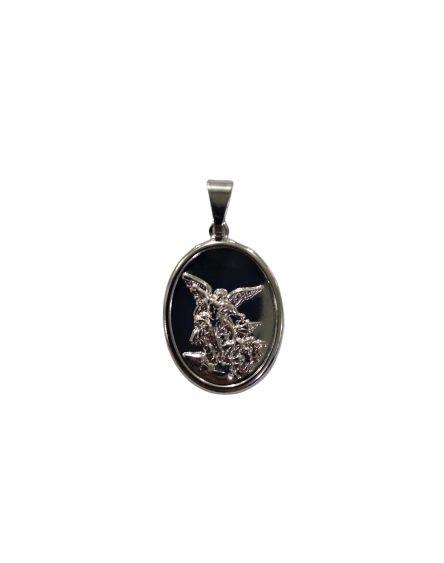 Medalha Oval em Inox de São Miguel - O pacote com 6 peças - Cód.: 1519
