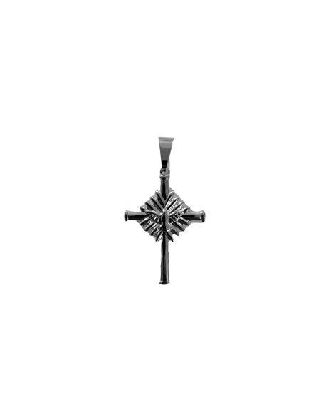 Medalha Cruz do Divino Espírito Santo em Aço Inox - O pacote com 3 peças - Cód.: 243