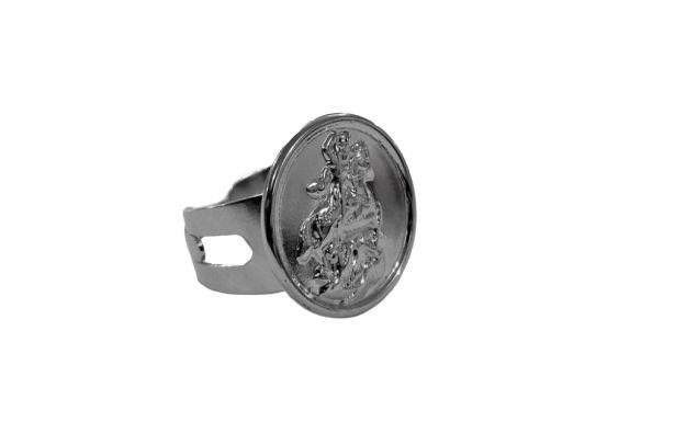 Anel Regulável em Aço Inox, São Jorge - O pacote com 3 peças - Cód.: 434