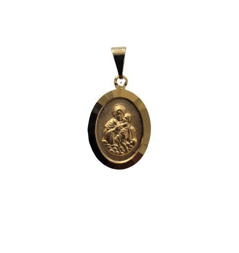 Medalha Oval Dourada da Mãe Rainha - O pacote com 3 peças - Cód.: 464
