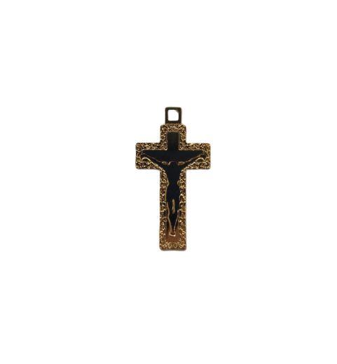 Pingente Cruz Dourada - A dúzia - Cód.: 2824