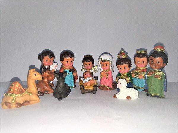 Presépio Infantil Camelo Menor 12 peças - O conjunto - Cód.: 8540