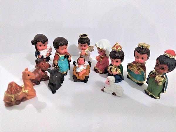 Presépio Infantil Camelo Maior 12 peças - O conjunto - Cód.: 8416