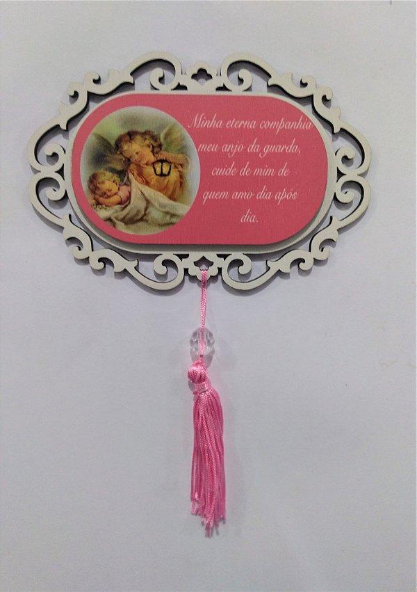 Placa para Bebê em MDF com Pompom - O Pacote com 3 peças - Cód.: 5927