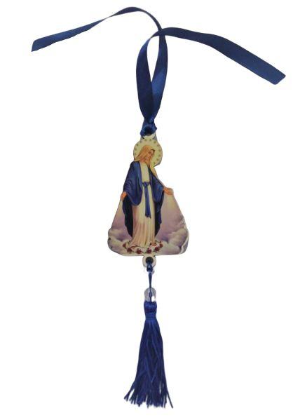Pendulo Bibelô de Nossa Senhora das Graças em MDF - O pacote com 3 peças - Cód.: 5746