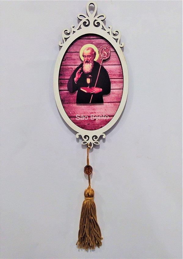 Moldura Espelho de São Bento em MDF - O pacote com 3 peças - Cód.: 1118