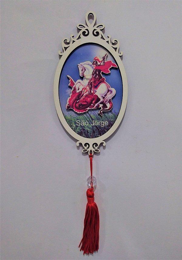 Moldura Espelho de São Jorge em MDF - O pacote com 3 peças - Cód.: 1118