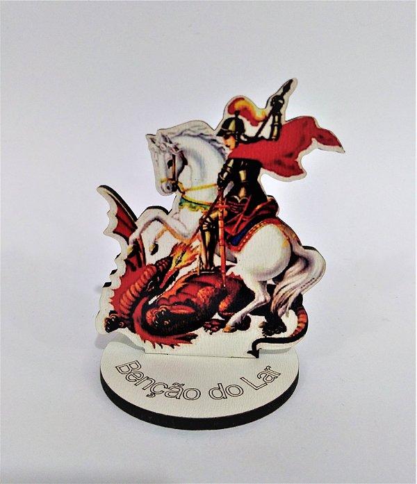 Enfeite de mesa em MDF de São Jorge - O pacote com 6 peças - Cód.: 1647