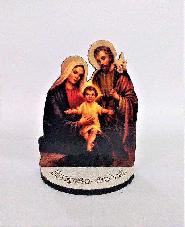 Enfeite de Mesa em MDF  - Sagrada Família - O pacote com 6 peças - Cód.: 1647