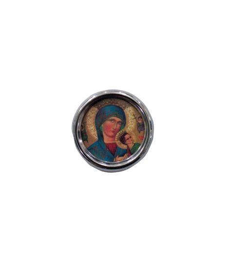 Imã redondo de Nossa Senhora Do Perpétuo Socorro - A dúzia - Cód.: 1555