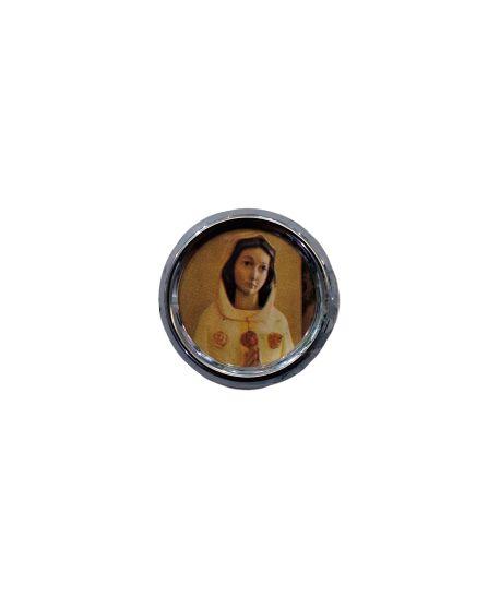 Imã redondo de Nossa Senhora de Rosa Mistica - A dúzia - Cód.: 1555
