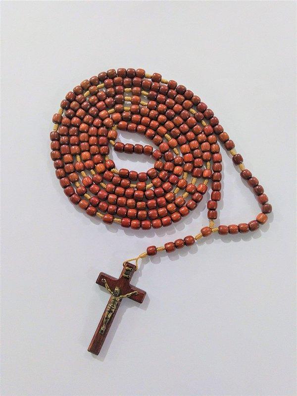 Rosário encerado grande com Cristo - O pacote com 3 peças - Cód.: 2740