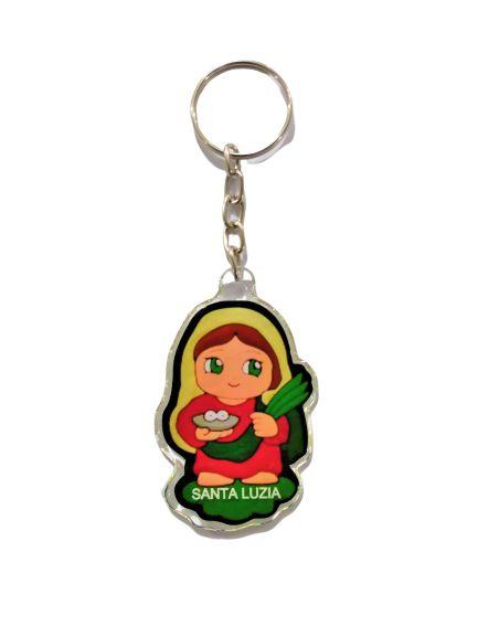 Chaveiro Acrílico de Santa Luzia Infantil - A dúzia - Cód.: 3671