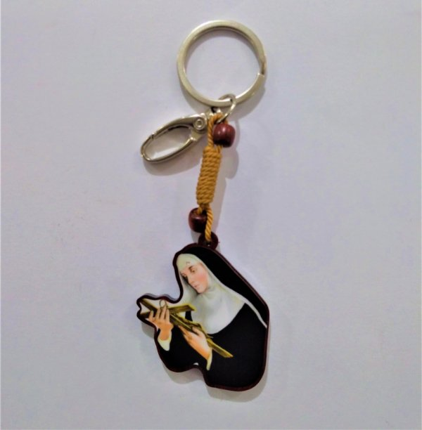 Chaveiro em Madeira de Santa Rita, com Mosquetão - O pacote com 3 peças - Cód.: 3661