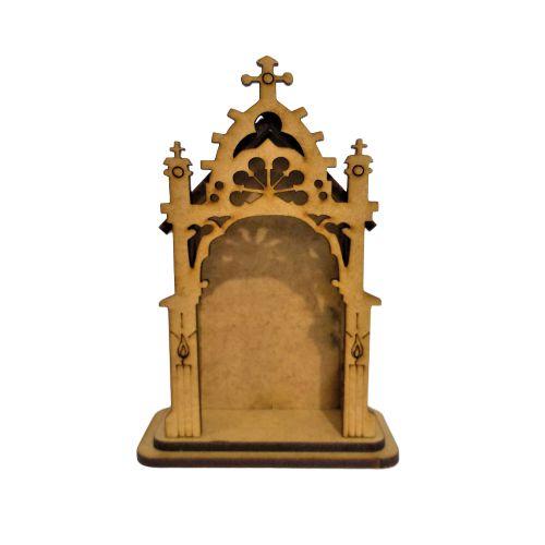 Capela PP na cor crua  -O pacote com 3 peças - Cód.: 1865