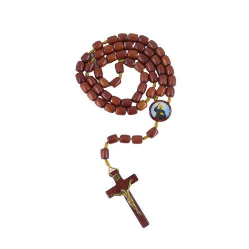 Terço com Entremeio Resinado de Nossa Senhora Aparecida e Padre Donizetti - O pacote com 6 peças - Cód.: 2707