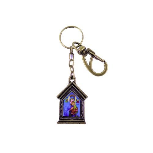 Chaveiro em Metal Capelinha de Nossa Senhora do Perpétuo Socorro - O pacote com 3 peças - Cód.: 3035