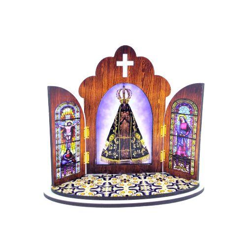Capela modelo Portuguesa de Nossa Senhora Aparecida - O pacote com 3 peças - Cód.: 6355
