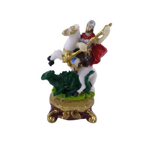 Imagem de São Jorge PP em resina  - O pacote com 3 peças  - Cód.: 5016