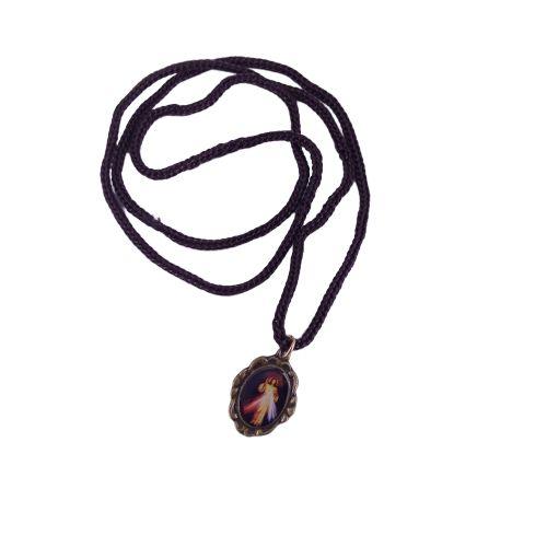 Cordão com Medalha Ramo, Jesus Misericordioso - A dúzia - Cód.: 3916