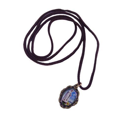 Cordão com Medalha Ramo, Nossa Senhora de Fátima - A dúzia - Cód.: 3916