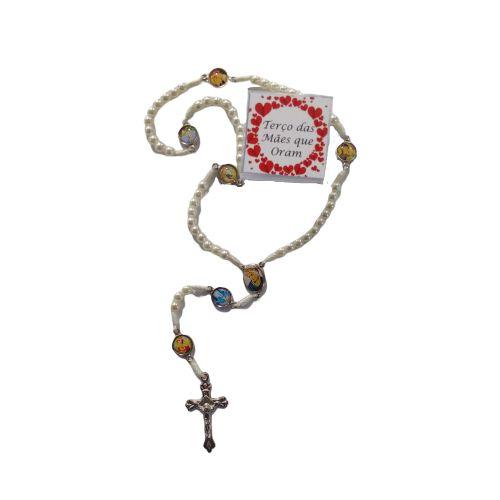 Terço das Mães que Oram, no Cordão com Caixa - O Pacote com 6 peças - Cód.: 3820