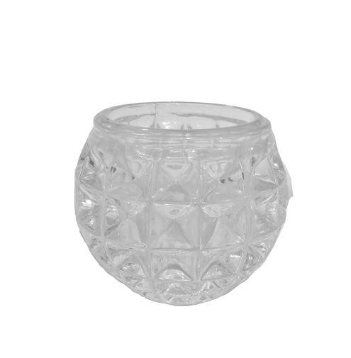 Castiçal de Vidro Transparente - O pacote com 3 peças - Cód.: 1546