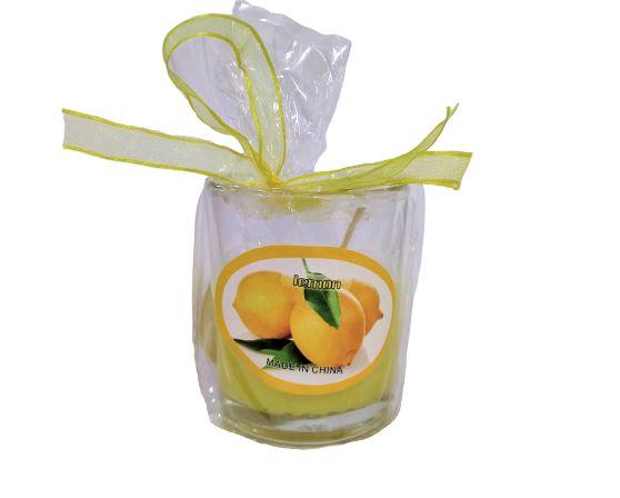Castiçal de Vidro com Vela Perfumada - O pacote com 3 peças - Cód 914
