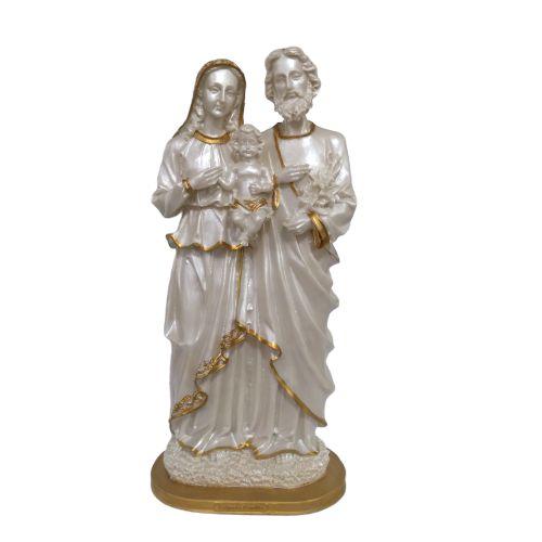 Imagem da Sagrada Família Perolada de 40 cm em Resina - A unidade - Cód.: 3815