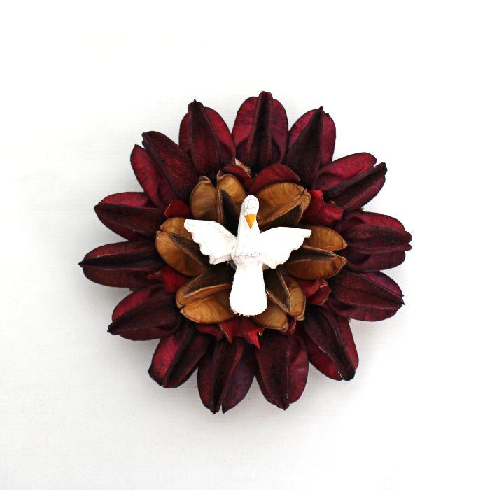 Divino Espírito Santo artesanal - Mandala de sementes - Pequeno - Diversos modelos - Cód.: 475